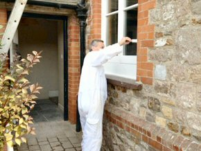 Exterior woodwork painting